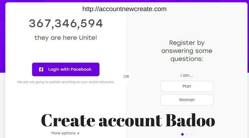 Creat badoo account