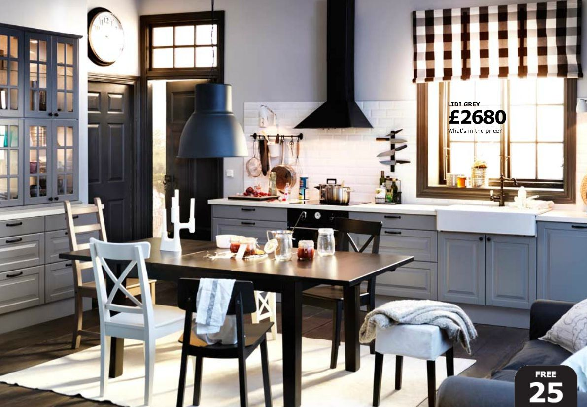 A Collection Of Wonderful IKEA Dining Room Ideas Black And White Open Plan