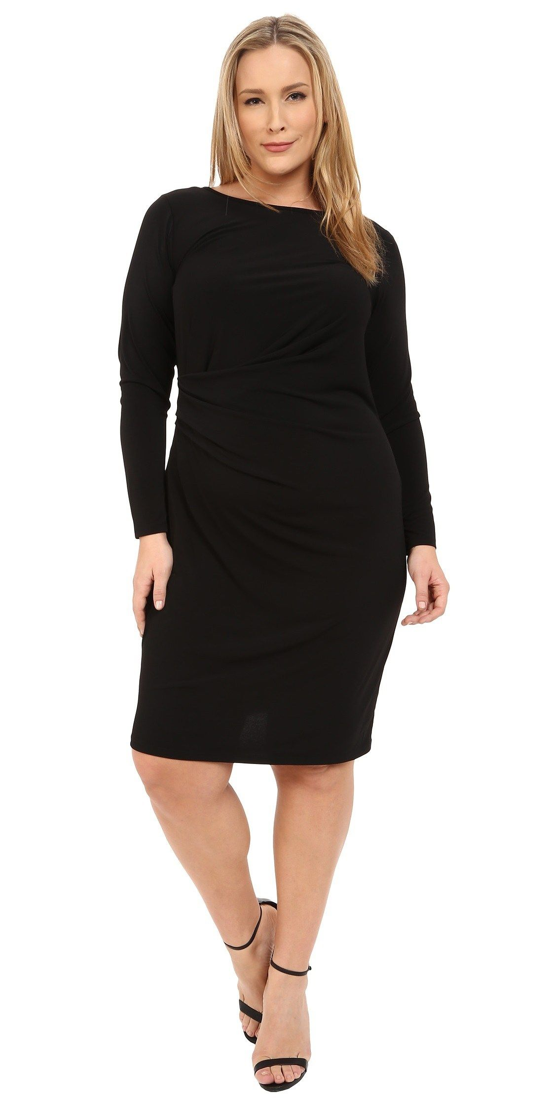 18 Plus Size Black Dresses With Sleeves Lbd Black And Curvy