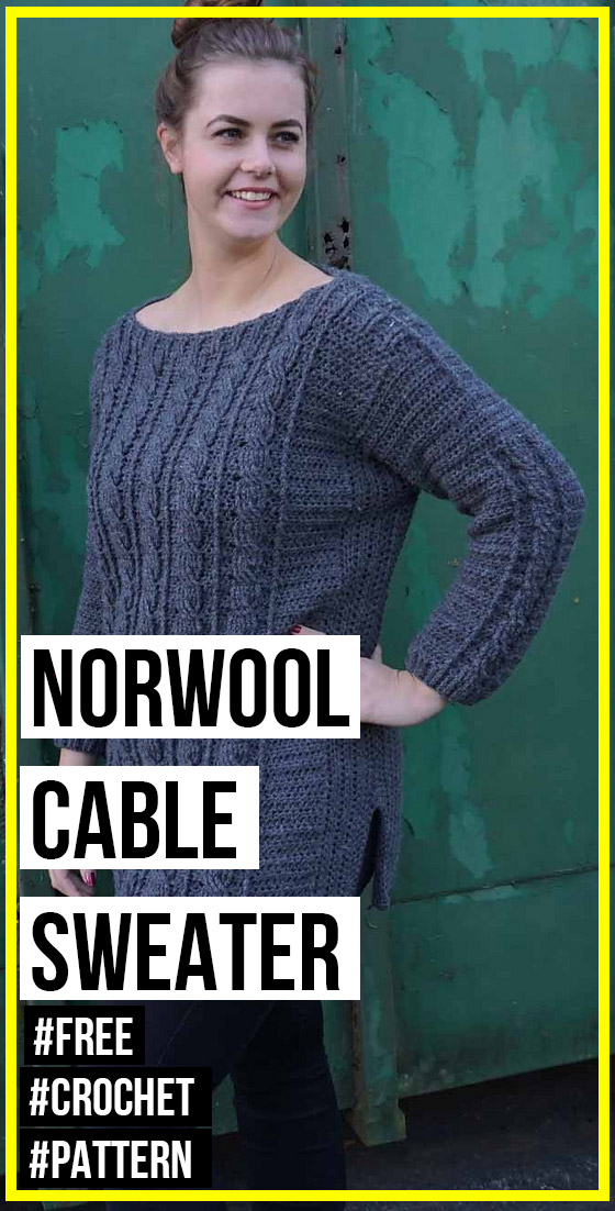 Photo of crochet Norwool Cable Sweater free pattern