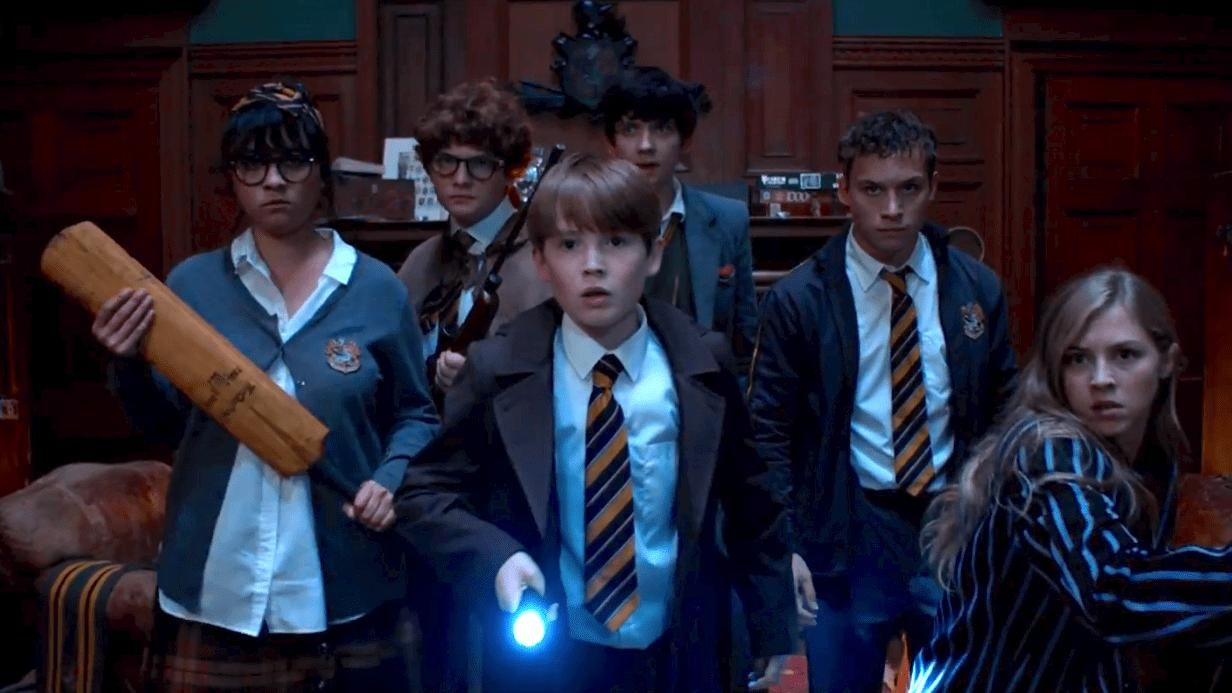 Asa Butterfield Kit Connor And Hermione Corfield In Slaughterhouse Rulez 2018 Slaughterhouse Movies School Of Rock