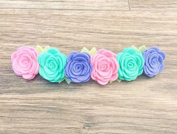 Corona de flores de fieltro diseño su propio por CeceBooBoutique
