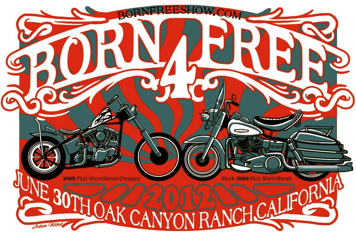 Born Free 4 Poster With Images Shovelhead Chopper Motorcycle