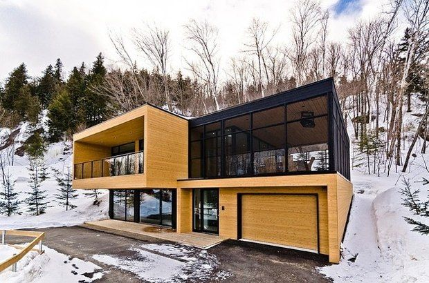 Chalet contemporain de montagne via sauvagia maisons de for Interieur chalet contemporain