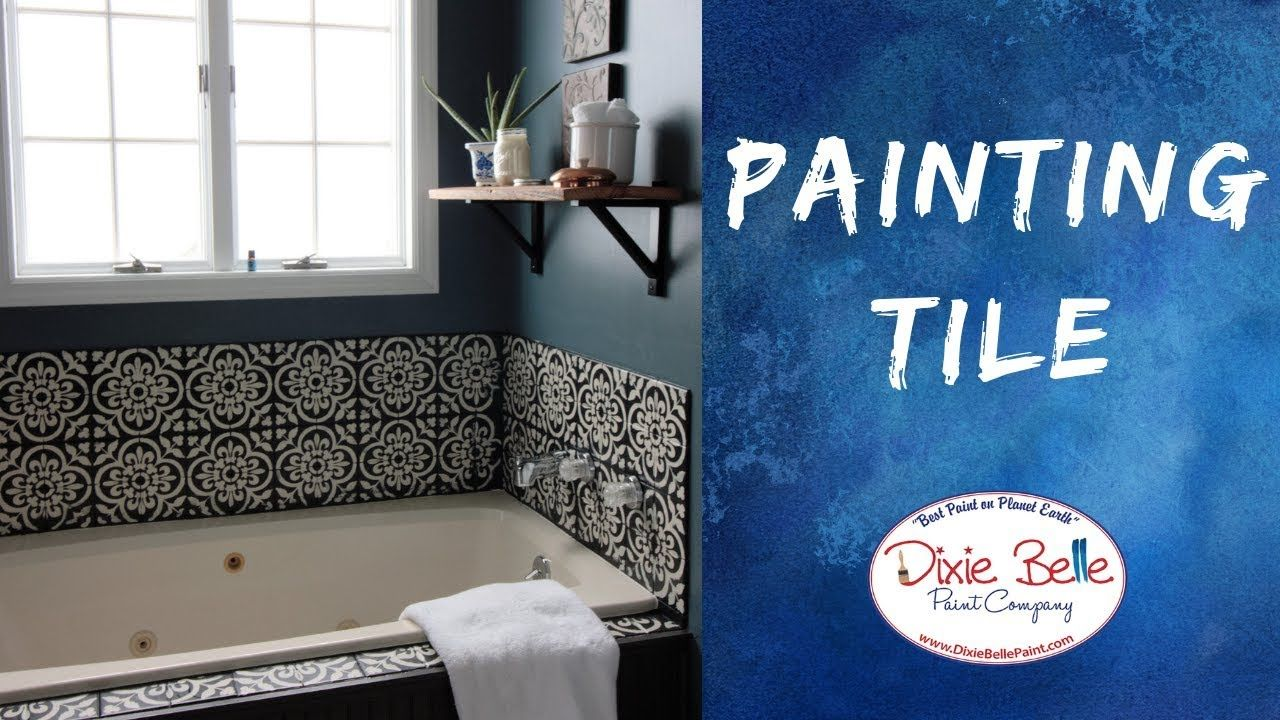 How To Paint Tile In Your Bathroom Youtube Painting Bathroom Tiles Small Bathroom Colors
