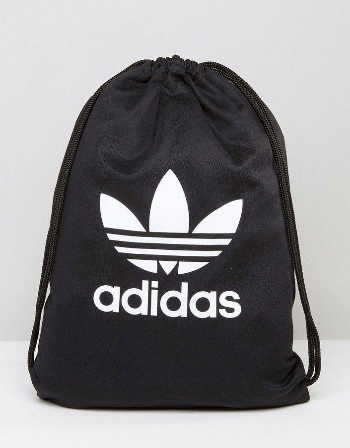 e28bb0833d Adidas adidas Originals Drawstring Backpack With Trefoil Logo ...