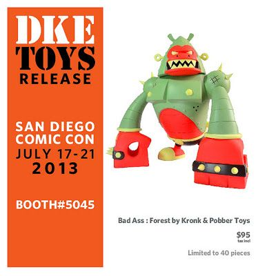 "San Diego Comic-Con 2013 Exclusive ""Forest"" Bad Ass Vinyl Figure by Kronk & Pobber Toys"