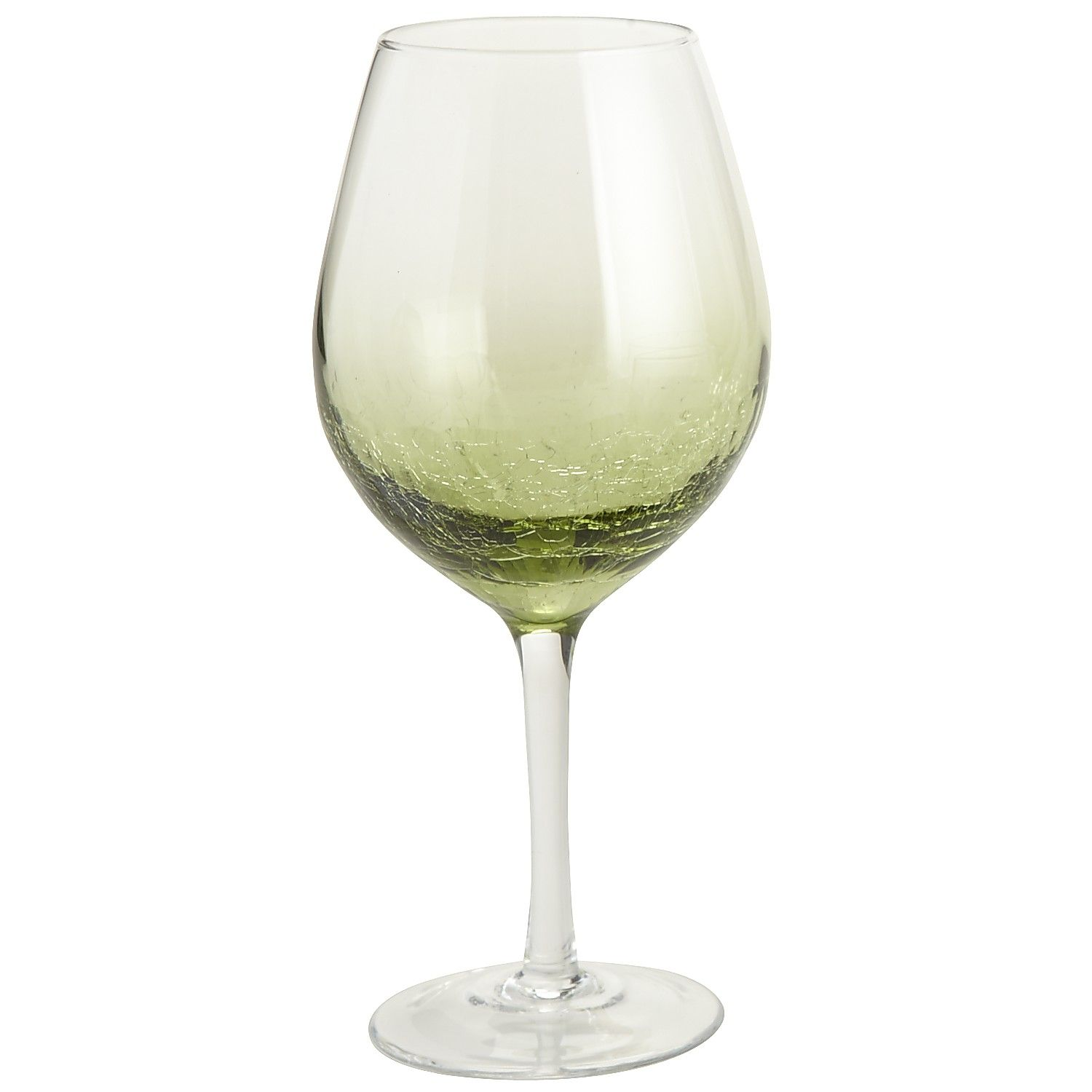 Crystal Stemware Wine Glasses Olive Green Crackle Balloon Wine Glass Barware