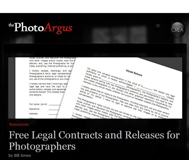 Here is a quick resource for any photographer in need of a - photographer release forms
