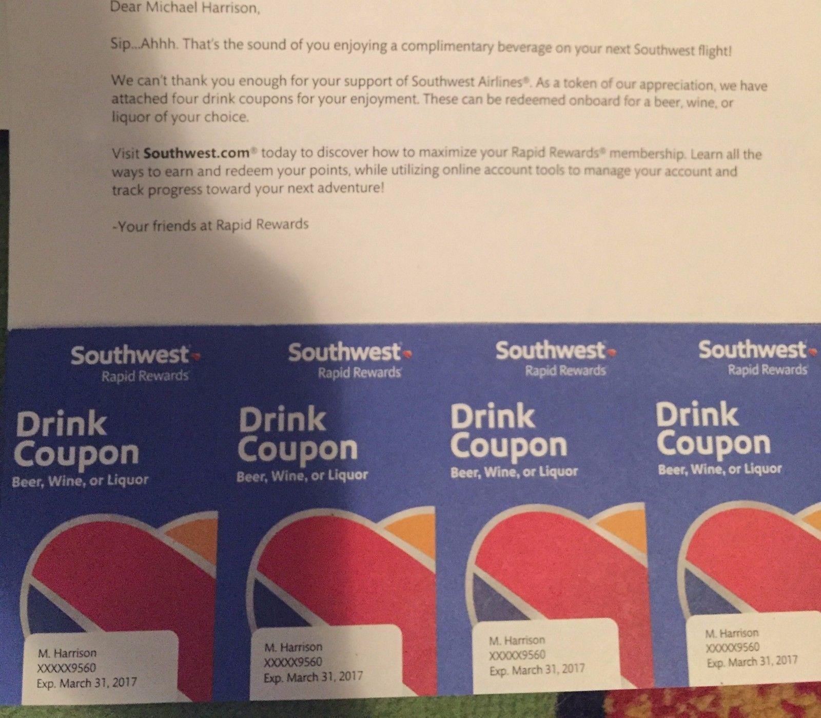 4 Southwest drink coupons https://t.co/otOKx2Mi4Y https://t.co/hF8U8NmpdD