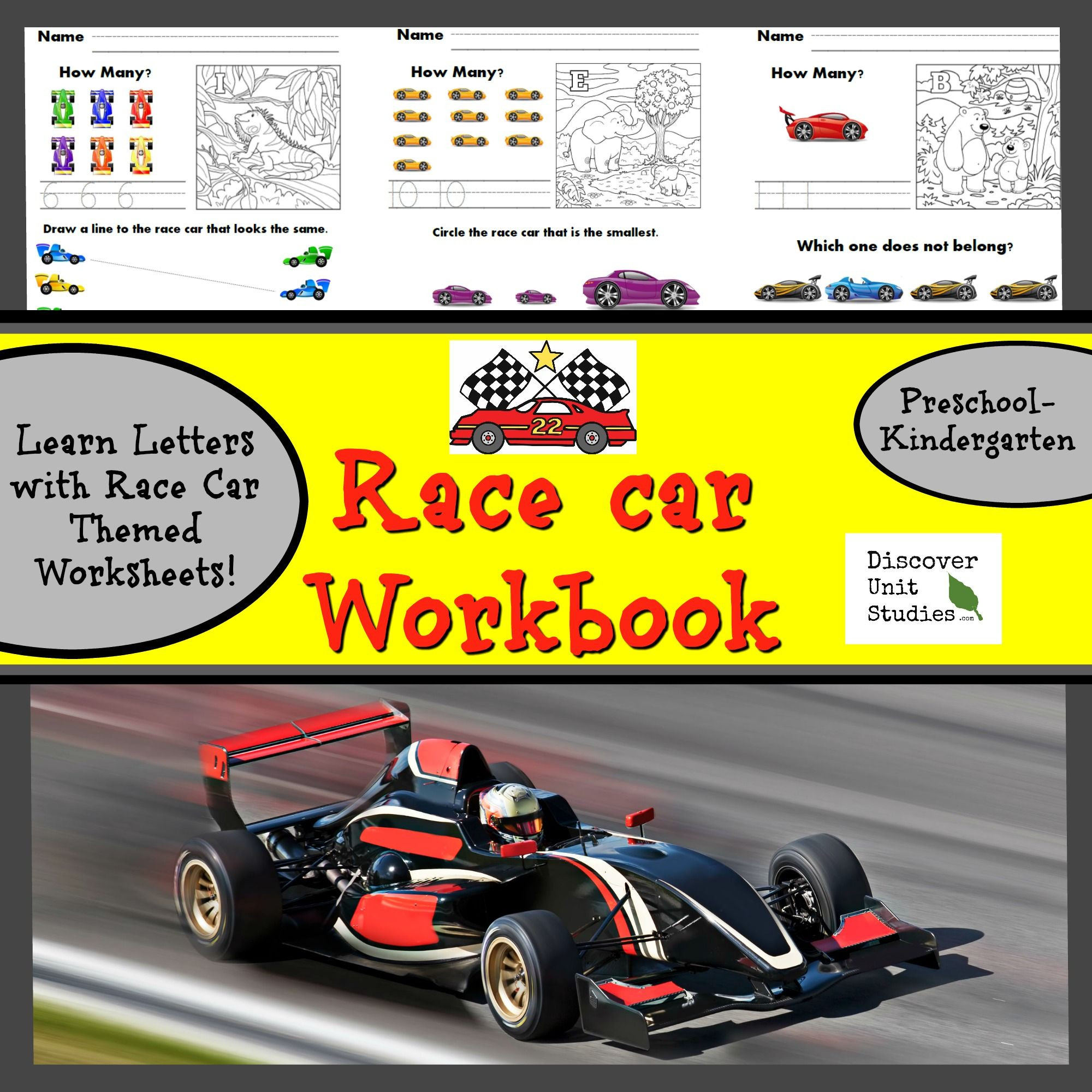 Race Car Student Workbook Download
