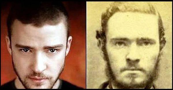 16 Celebrities With Historical Doppelgangers Ellen Degeneres S Doppelganger Is Hilarious Famous Celebrities Justin Timberlake Timberlake