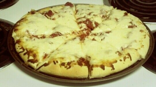 A Hopper favorite! A stuffed crust pizza with pepperoni and extra cheese! Yummy!