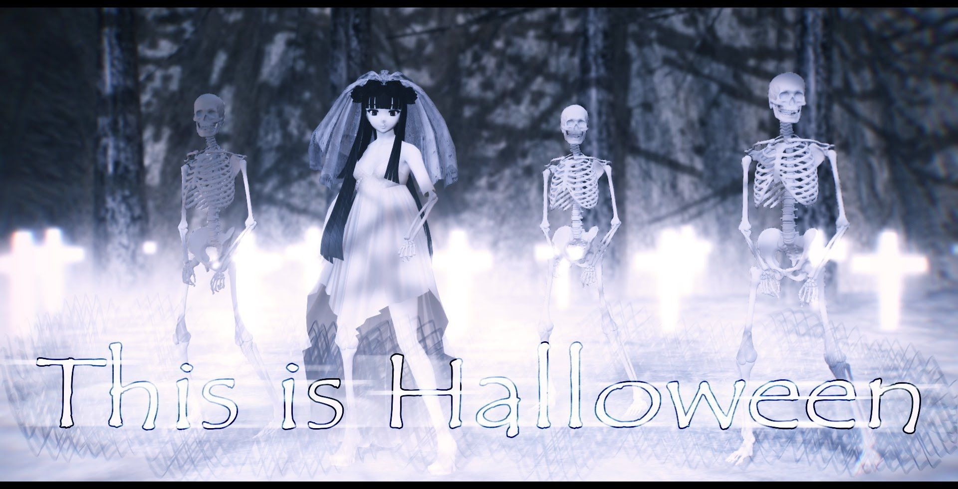 mmd】✞ this is halloween ✞ (female cover) | mmd songs | pinterest