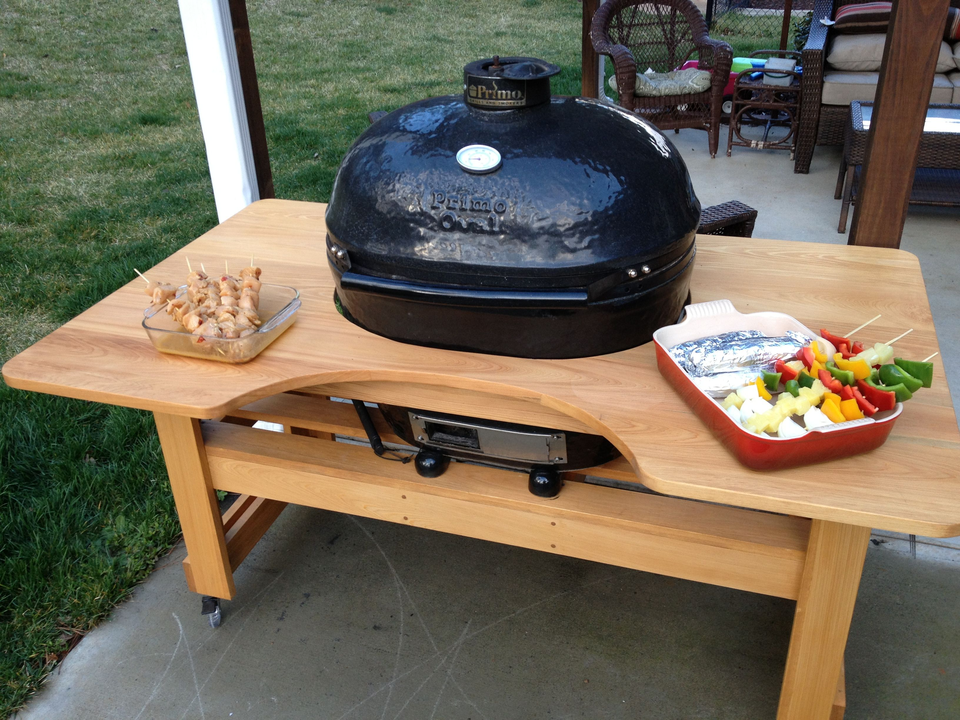 cypress grill table woodworking grill table outdoor. Black Bedroom Furniture Sets. Home Design Ideas
