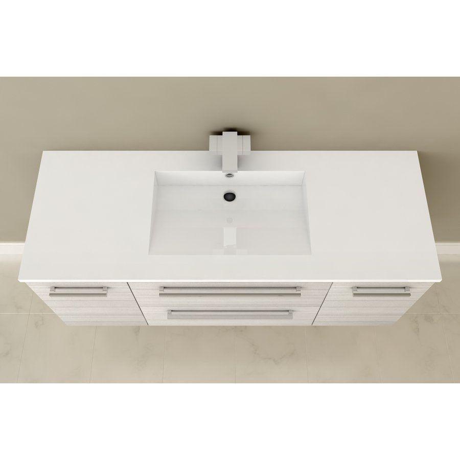 Cutler Silhouette 48 In X 19 In Single Sink Bathroom Vanity with