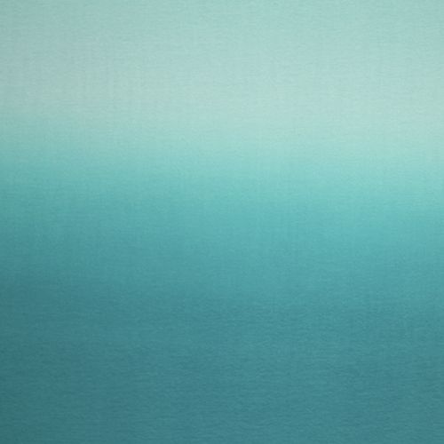 Teal Ombre Panel Cotton Spandex Knit Fabric Sweet Teal