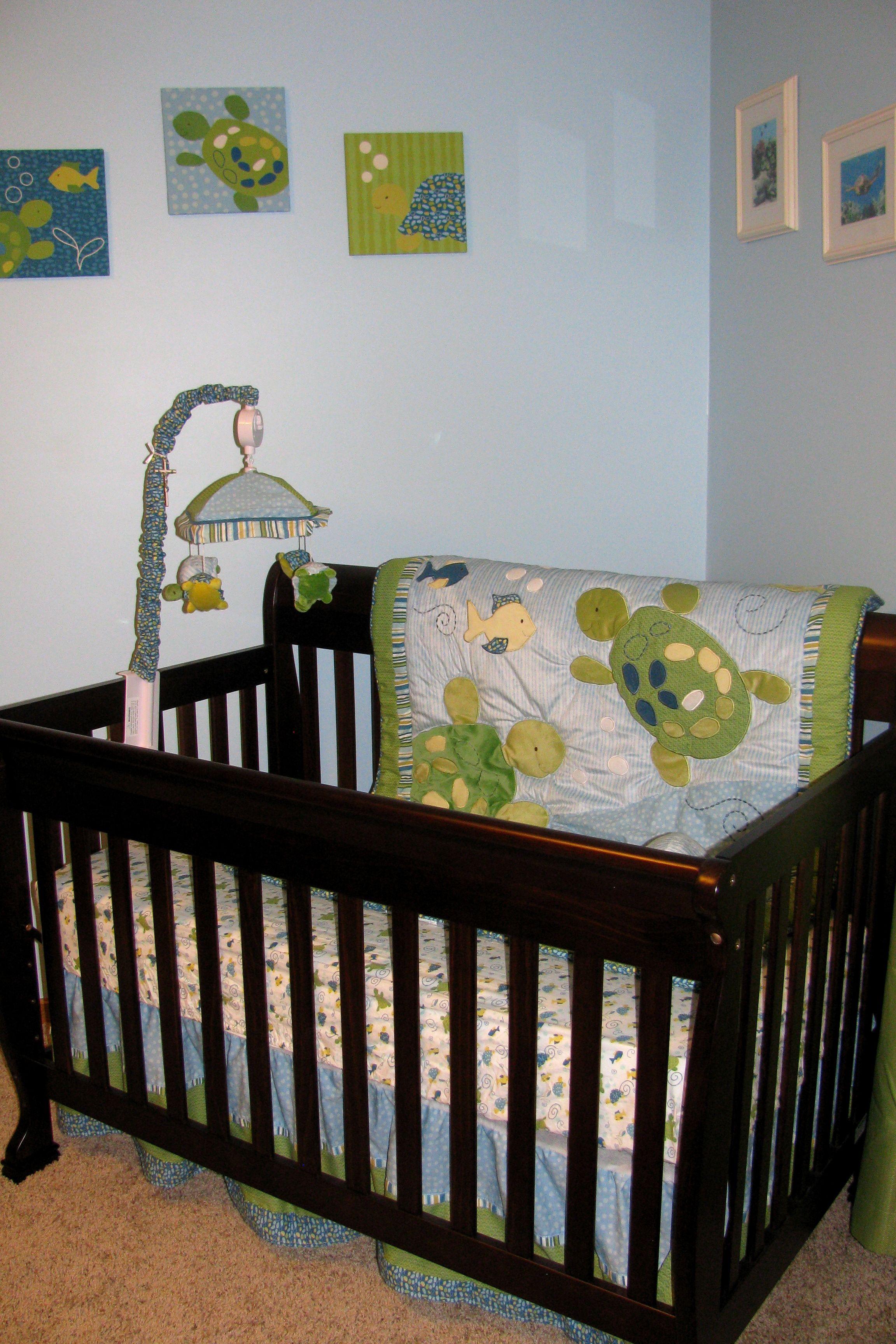 Everything Designish Baby Boy S Nursery: Cocalo Turtle Reef Nursery