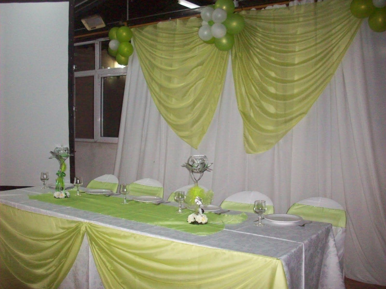 Areglos de xv anos kal dec decoraciones con globos y for Decoracion en telas y globos para 15 anos