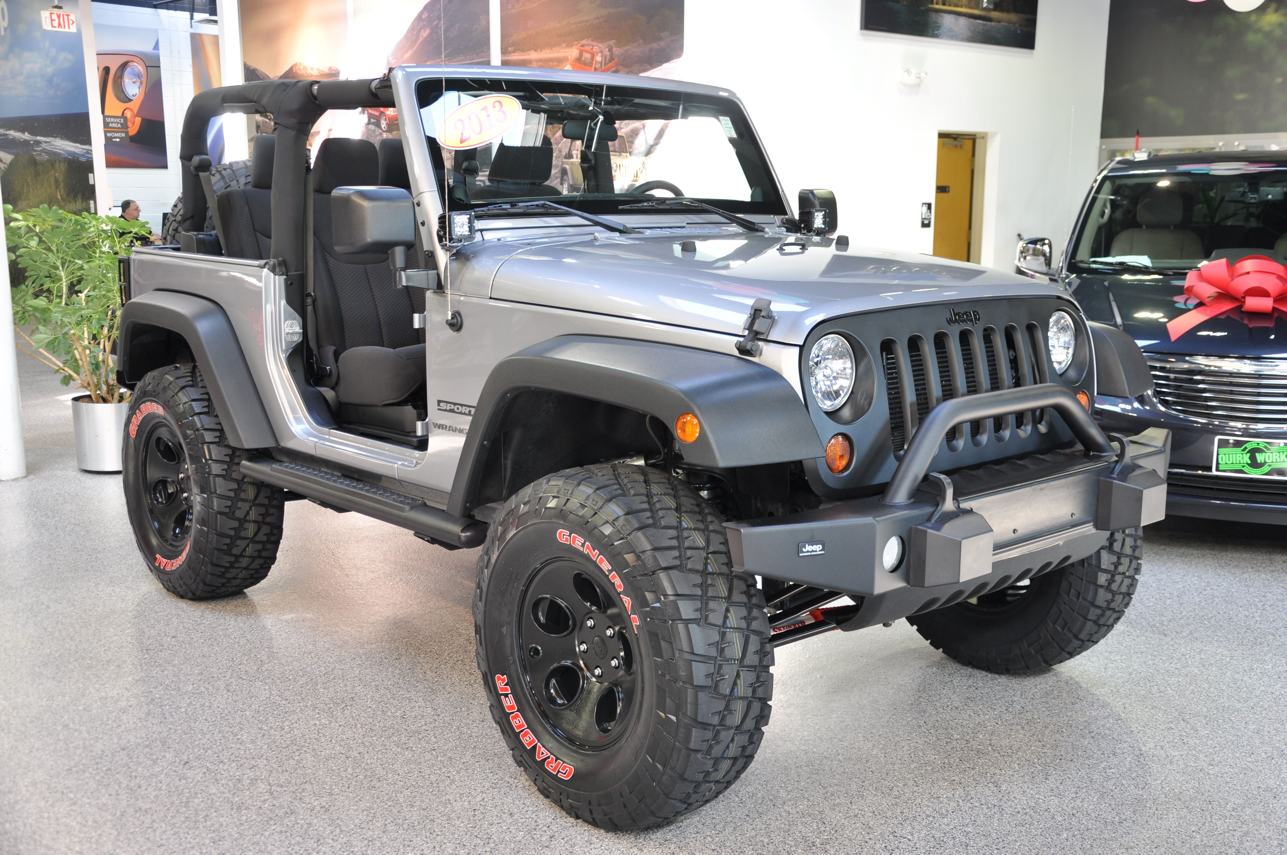 Custom jeep wrangler rear off road bumper from smitty built 3 lift 35 general grabber tires jeep board pinterest custom jeep and jeeps