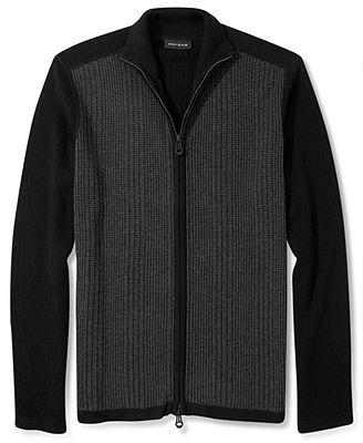 DKNY Jeans Sweater, Mock Neck Full Zip Sweater