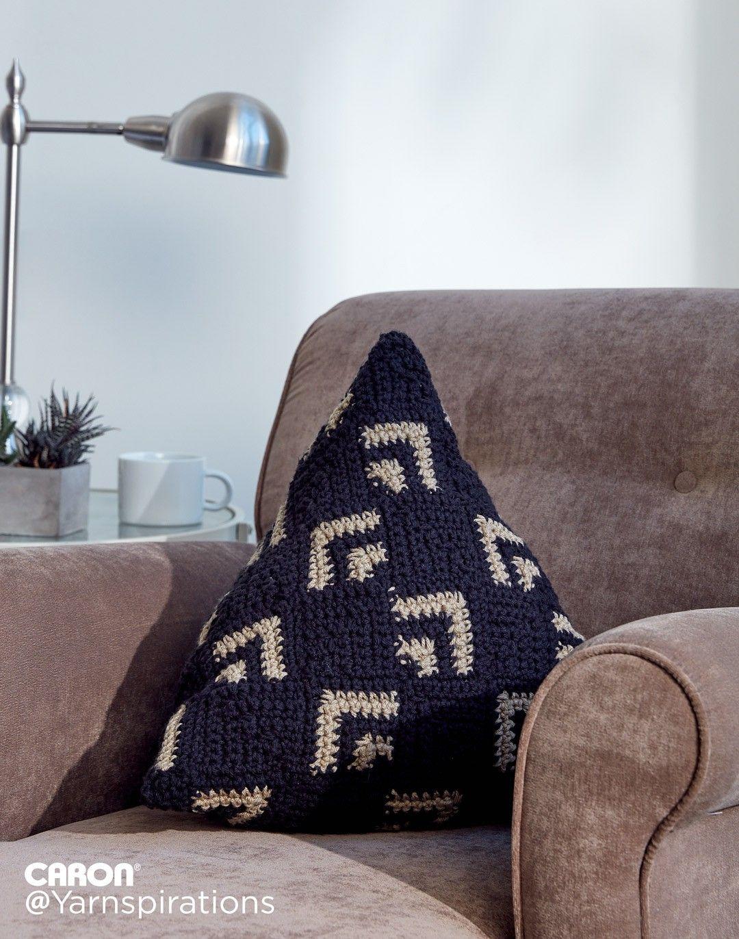 Crochet Mosaic Pillow - Patterns | Yarnspirations | Free Pattern ...
