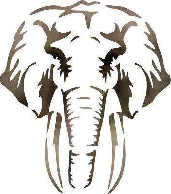 T te d 39 l phant pochoir tissus pinterest pochoir gravure et dessin - Dessins d elephants ...