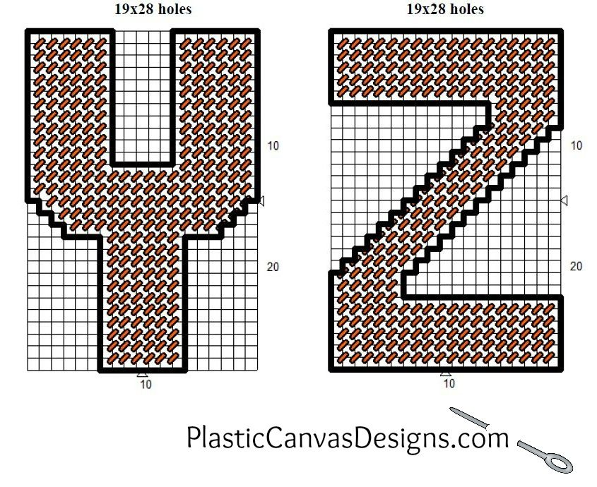Free Plastic Canvas Alphabet Patterns Each Letter Is  Inches