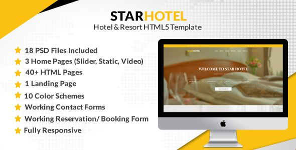 STAR HOTEL - Hotel  Resort HTML5 Template Website-Templates - reservation forms in pdf