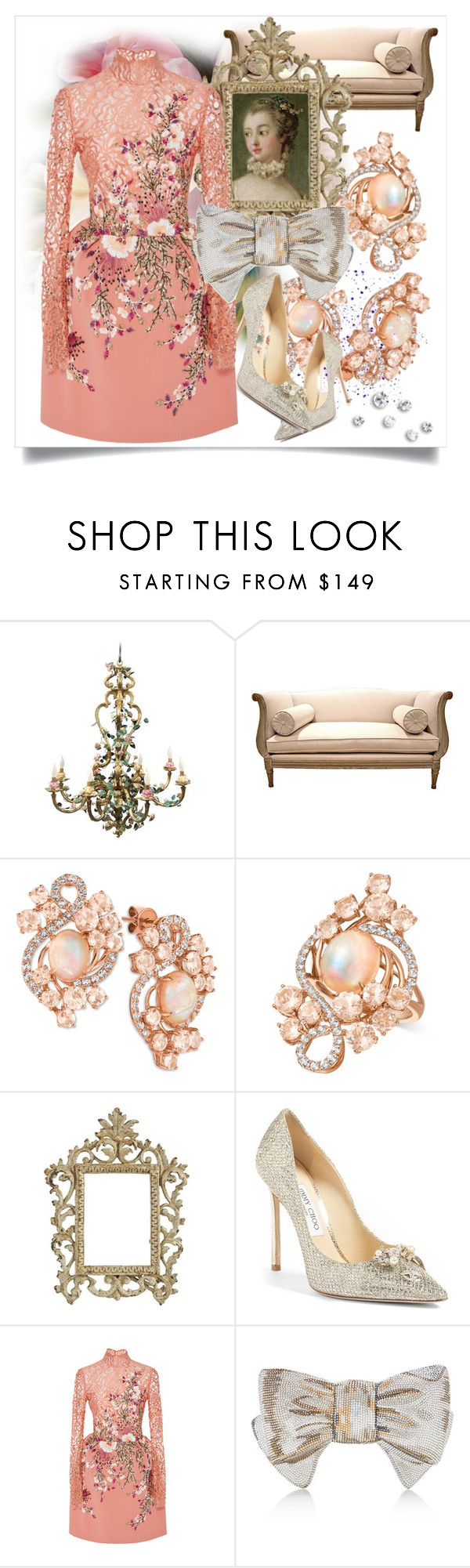 """""""Rococo Inspired"""" by capricat ❤ liked on Polyvore featuring LE VIAN, Jimmy Choo, Georges Hobeika and Judith Leiber"""