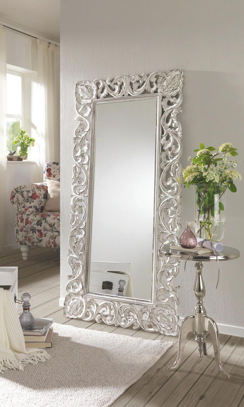 Großer Spiegel mit Metallrahmen  Wohnzimmer spiegel, Wandspiegel