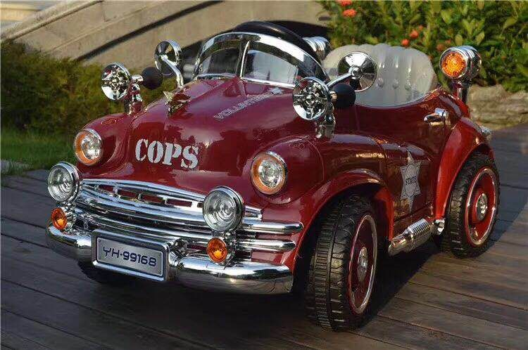New Nostalgic Police Car Children S Barber Chair Kids Hairdressing