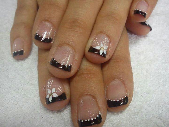 Punta Negra Diseños Para Uñas Nails Fun Nails Y Pretty Nails