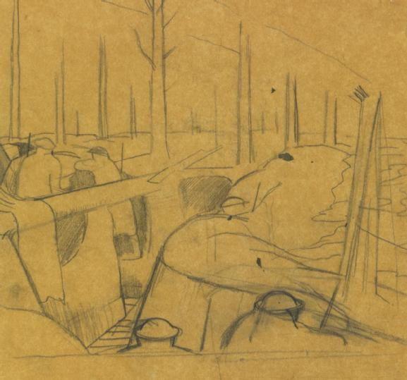 Studies Oppy Wood 1917 NO 2243 (Art.IWM ART 3904) John Nash RA