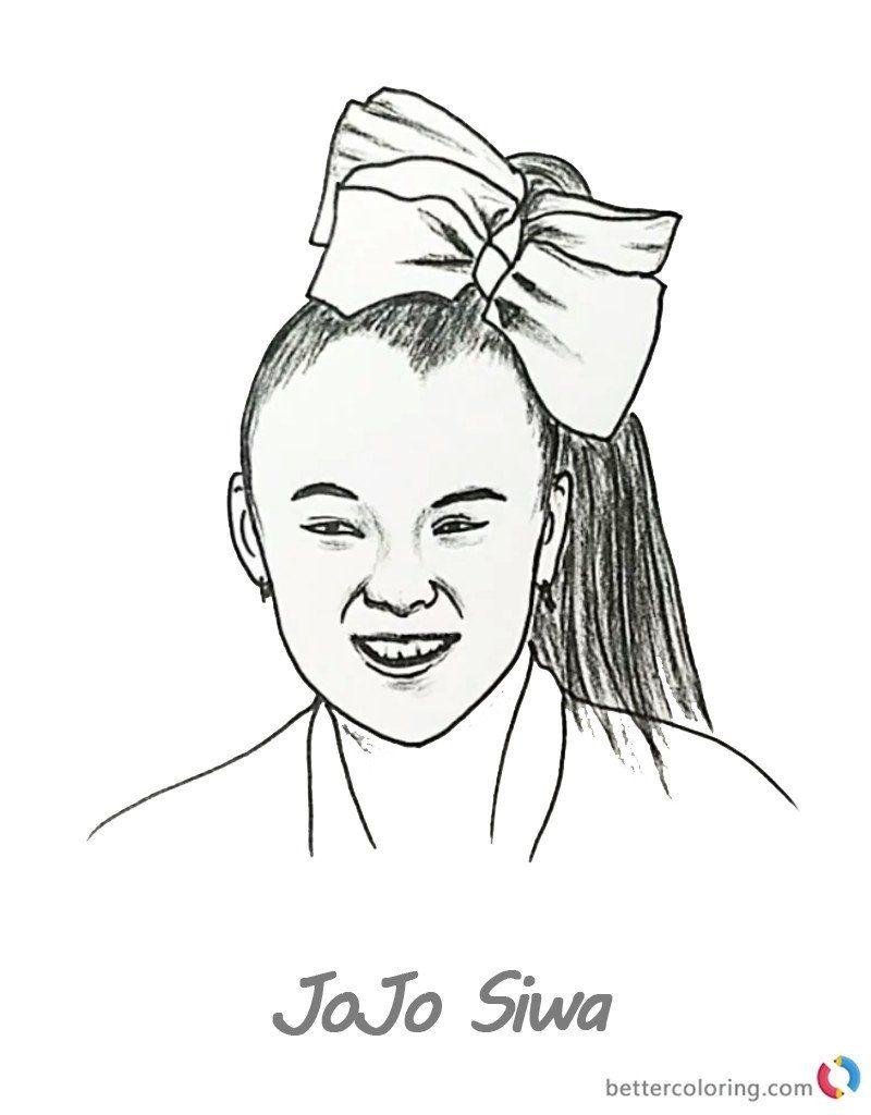 Jojo Siwa Coloring Page