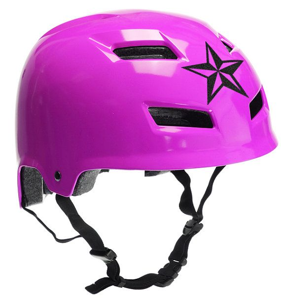 Texas Star Reflective Decal Nautical Star Helmet Sticker - Pink motorcycle helmet decals