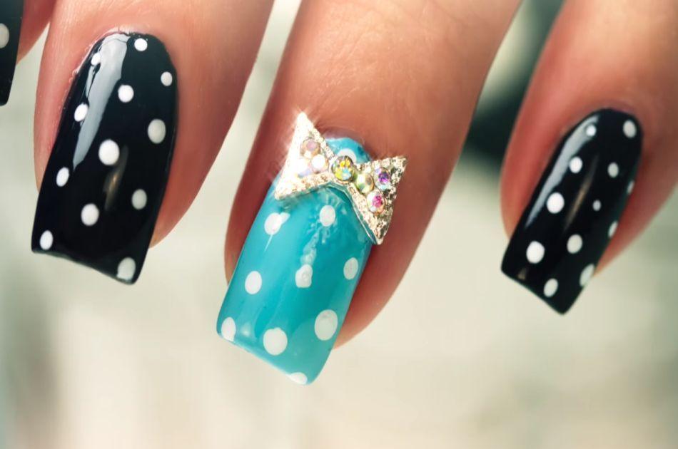 polka dot nail art design - DIY Dot Nail Art