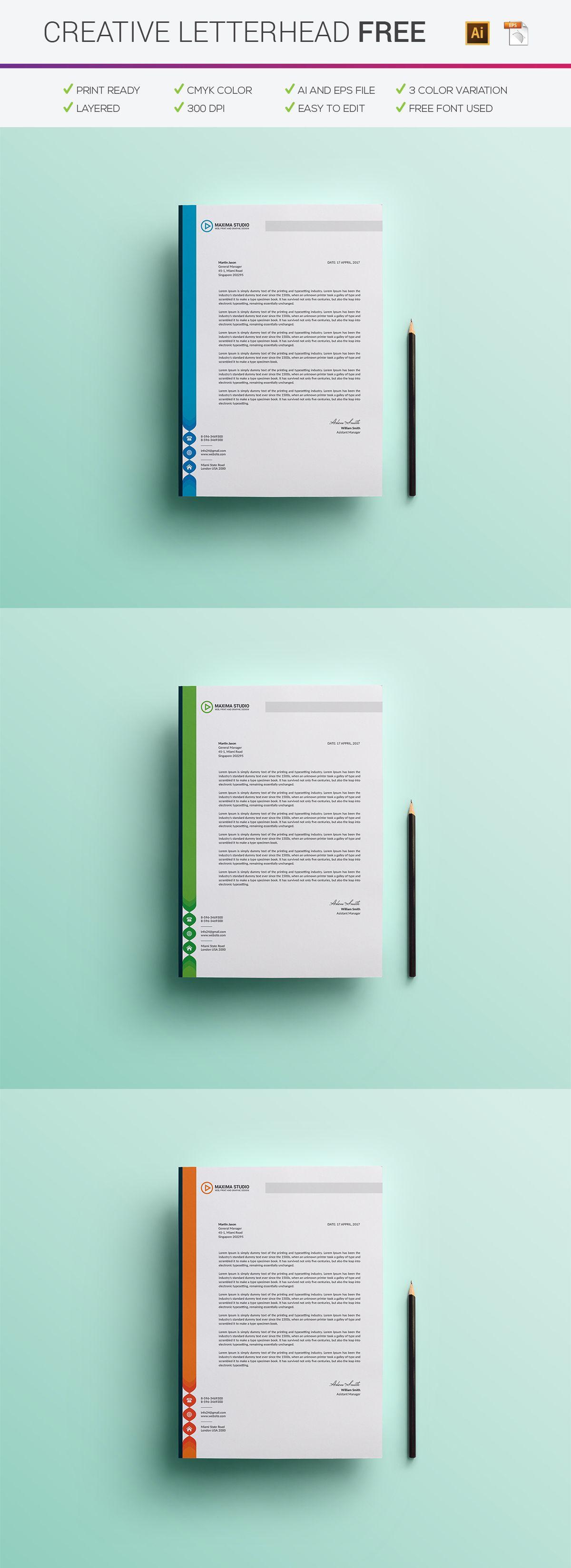 free creative letterhead on behance letterhead design letterhead
