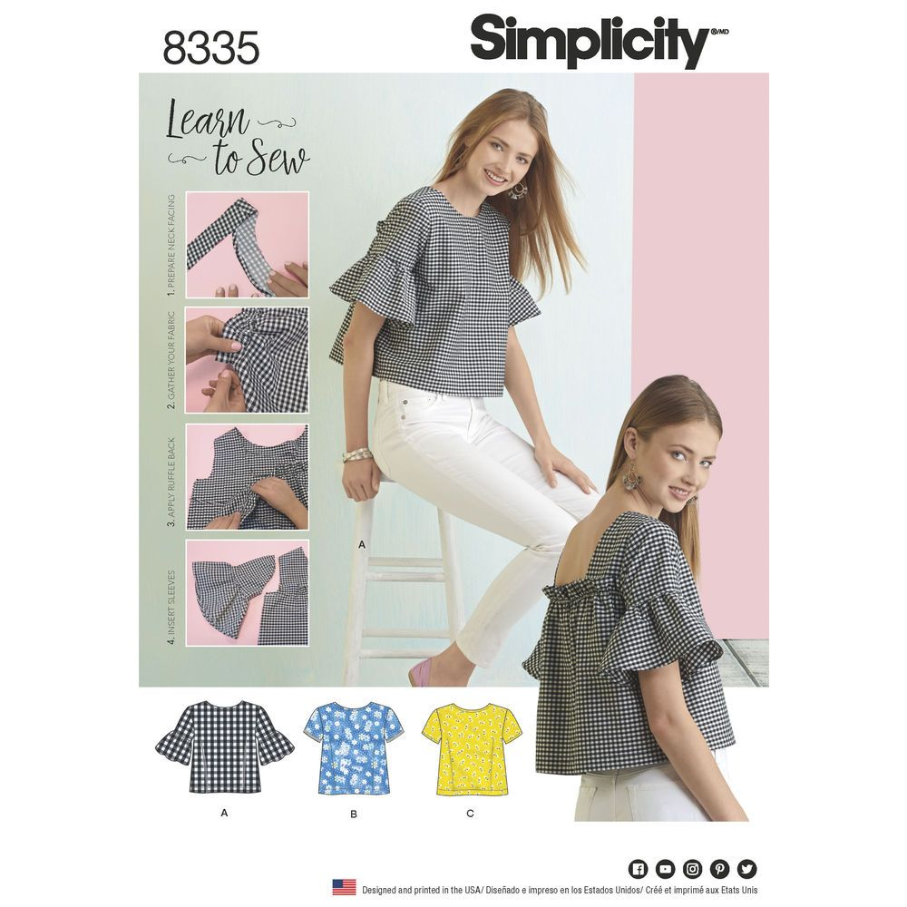 This Learn to Sew pattern from Simplicity lets you learn new skills ...