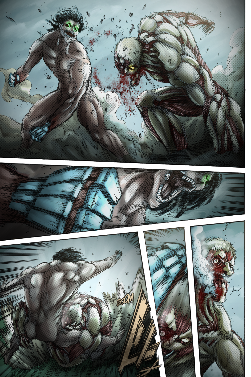 Shingeki No Kyojin Colored Chapter 117 in 2020 | Attack on ...