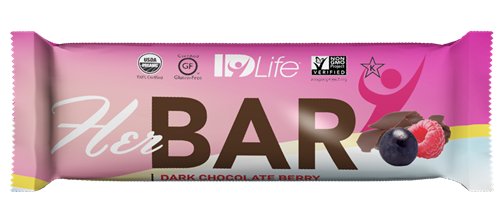 Hers Bar, delicious and has non of the bad stuff.  Tastes like a brownie with raspberries
