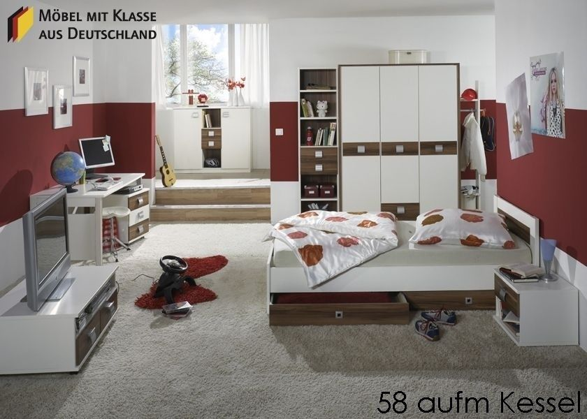 jugendzimmer komplett holz nussbaum weiss 3441. buy now at https, Innenarchitektur ideen