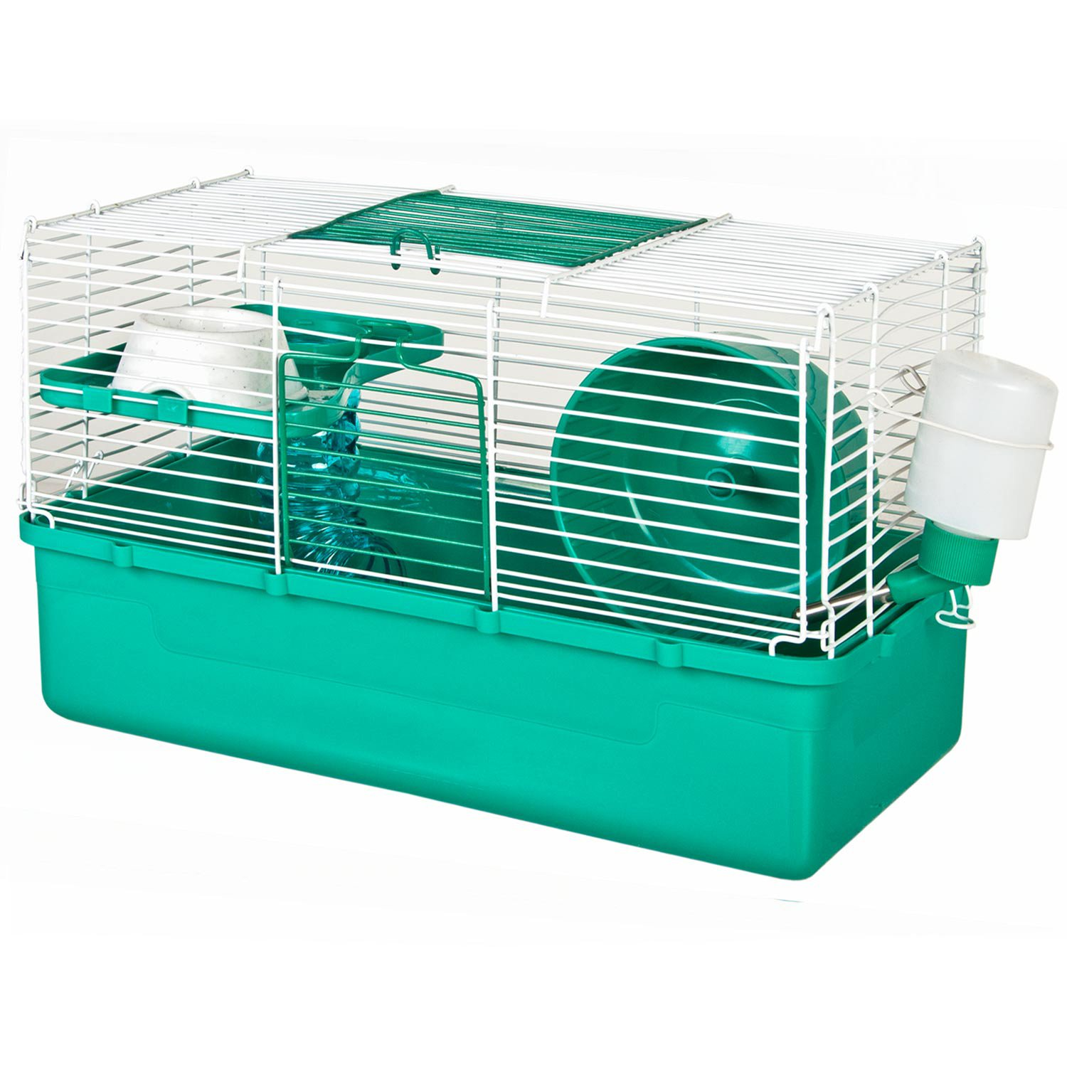 Ware Home Sweet Home Teal 1 Story Hamster Cage 15 5 In Blue White Hamster Cage Hamster Cages Big Bird Cage