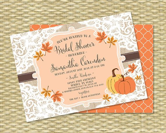 fall bridal shower invitation rustic lace by sunshineprintables 1800