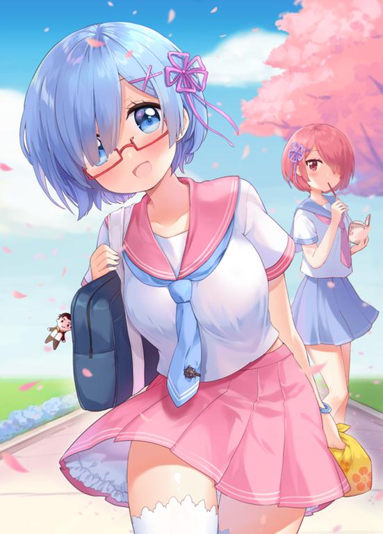 Schoolgirl Rem [ReZero] awwnime Cô gái phim hoạt hình