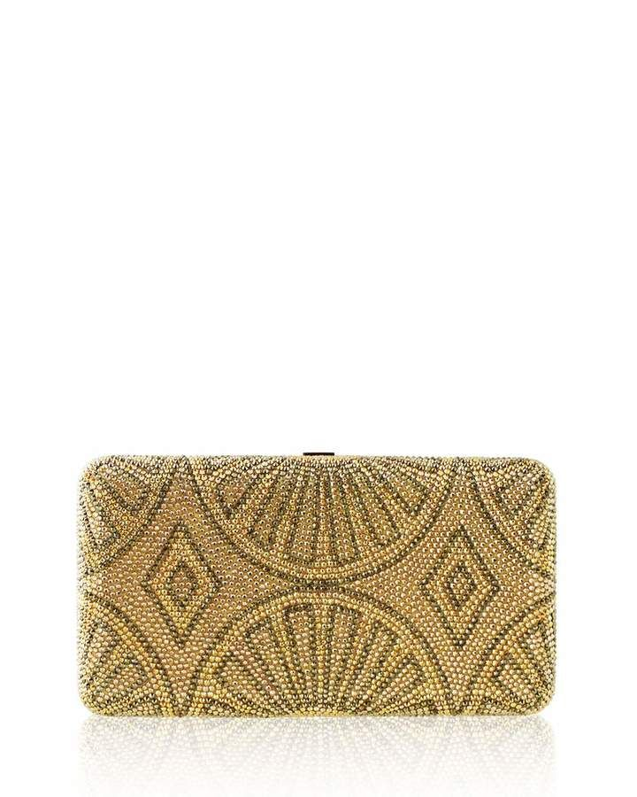 Judith Leiber Couture La Revue Airstream Crystal Evening Clutch Bag, Champagne/Multi