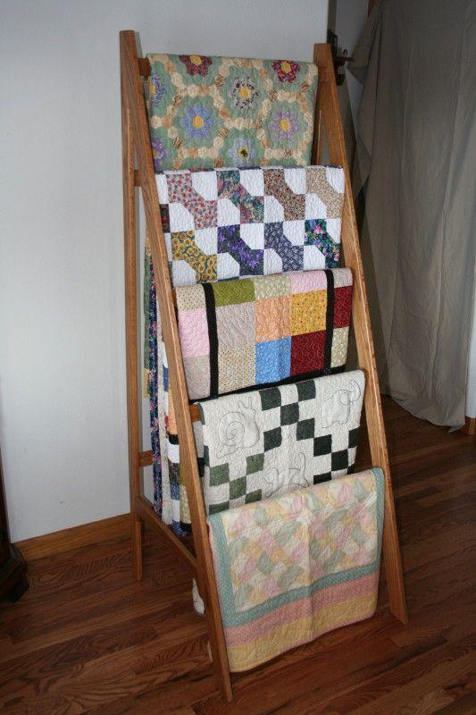 Display Your Rack ~ Quilt rack plans ladder find rustic