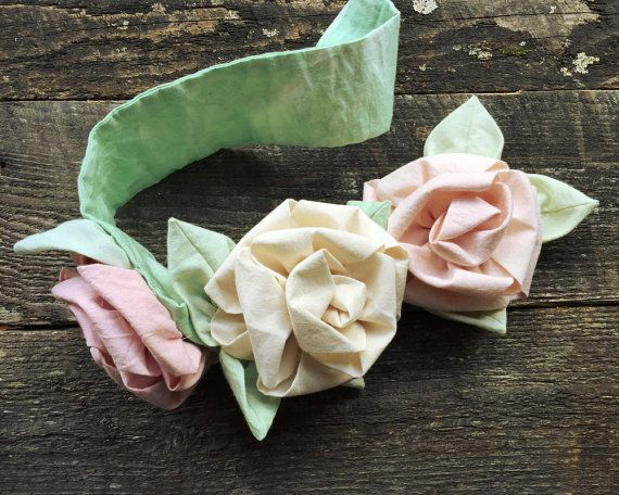 Shabby Chic Rose curtain tie back, handmade muslin and roses, rose quartz and natural muslin fabric roses, photo backdrop, wedding decor
