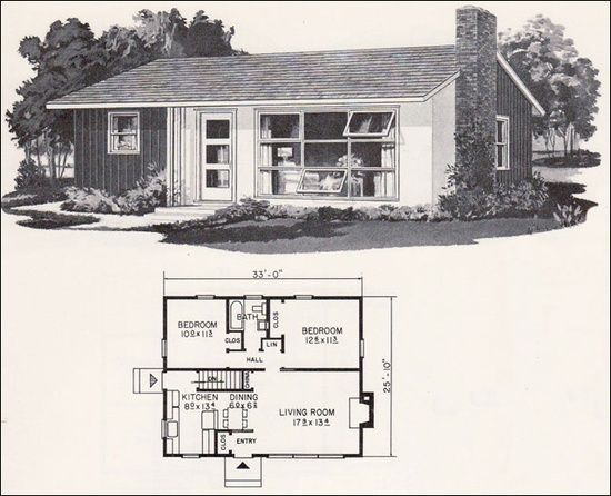 Pin By Betsy Parrish On Retro Mid Century Modern House Plans Vintage House Plans Mid Century Modern House