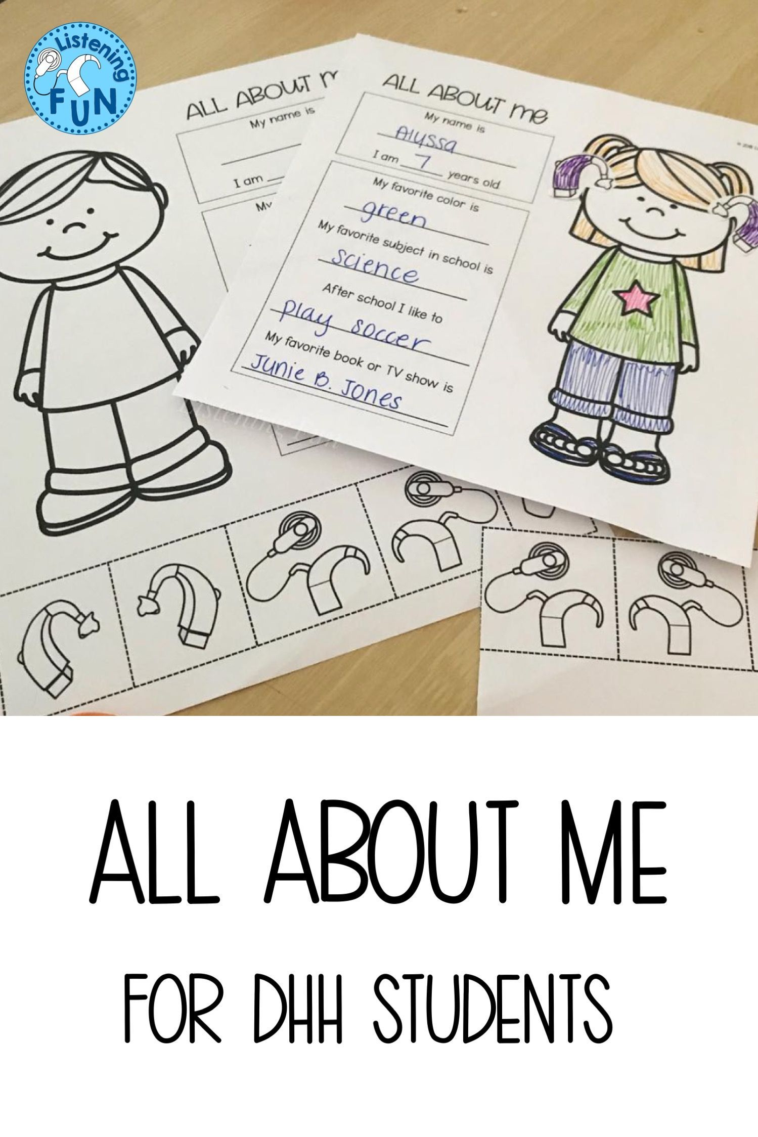 Back To School About Me For Dhh Students